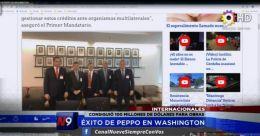 INTERNACIONALES - ÉXITO DE PEPPO EN WASHINGTON