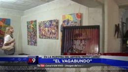 visitó la muestra del artista plástico Petty López