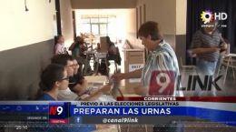 CORRIENTES | PREPARAN LAS URNAS | 28.05