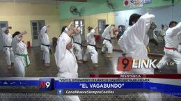 """Resistencia: """"El Vagabundo"""" visitó el entrenamiento de karatecas chaqueños que viajan a Irlanda"""