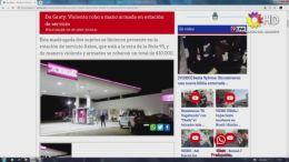 VIOLENTO ROBO A MANO ARMADA EN ESTACIÓN DE SERVICIO | DU GRATY | |19.09