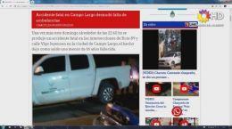 ACCIDENTE FATAL EN CAMPO LARGO DESNUDÓ FALTA DE AMBULANCIAS | CHACO | 23.09