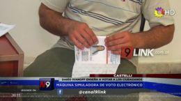 MÁQUINA SIMULADORA DE VOTO ELECTRÓNICO | CASTELLI | 03.10